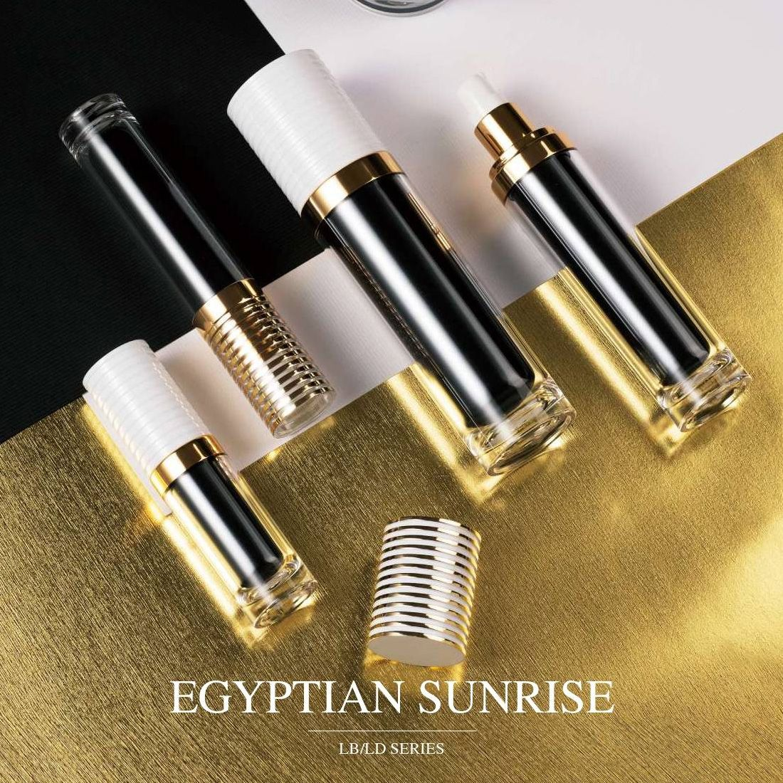 COSJAR cometic container design - Egyptian sunrise series