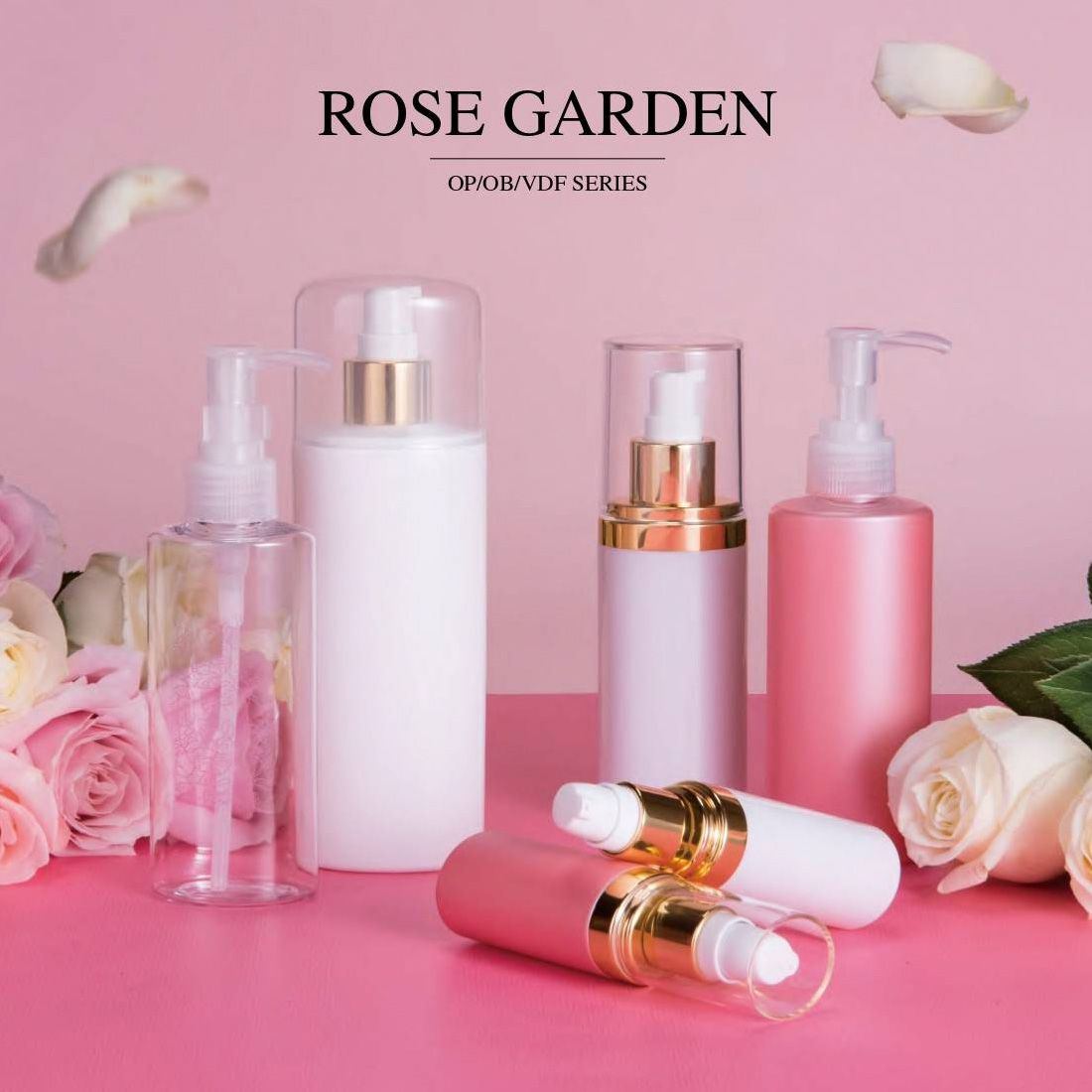 COSJAR cometic container design - Rose garden series
